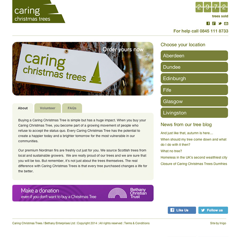 Caring Christmas Trees Home Page