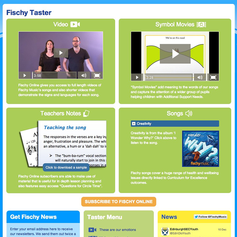 Fischy Overview - Home Page