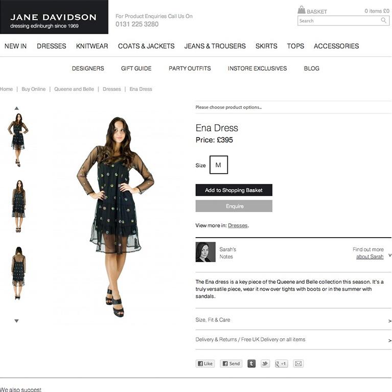 Jane Davidson - Product Page