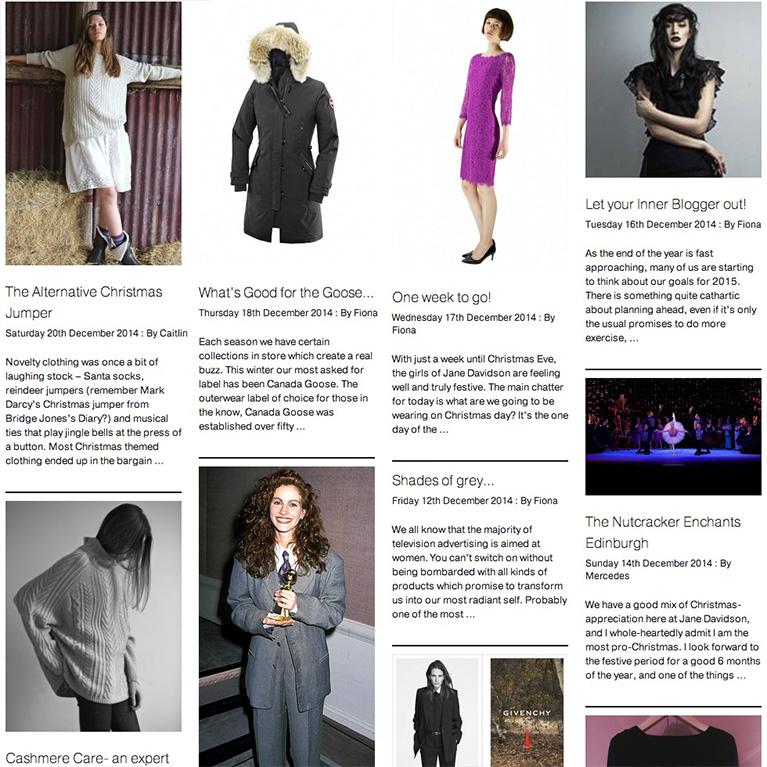 Jane Davidson blog page