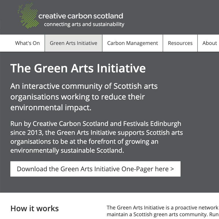 Creative Carbon Scotland - Green Arts Initiative