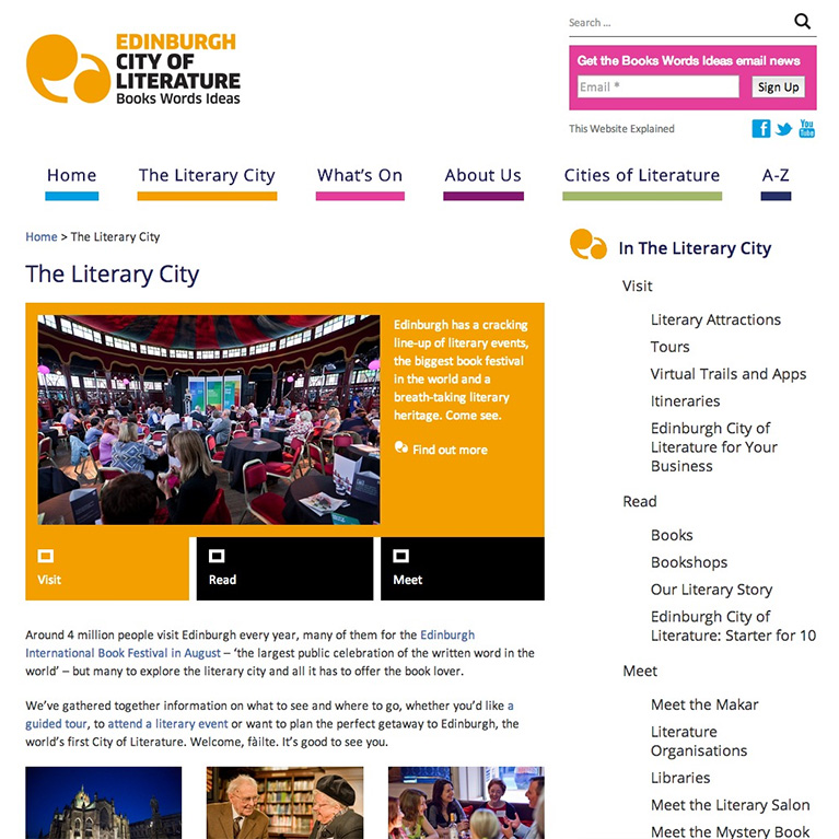 Edinburgh City of Literature - Top Level Page