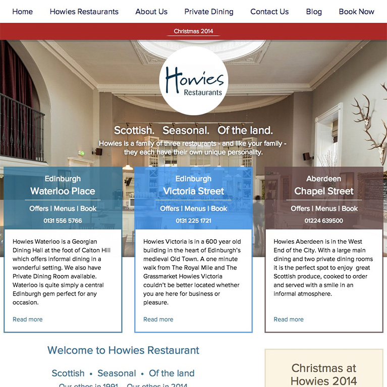 Howies Restaurants - Home Page