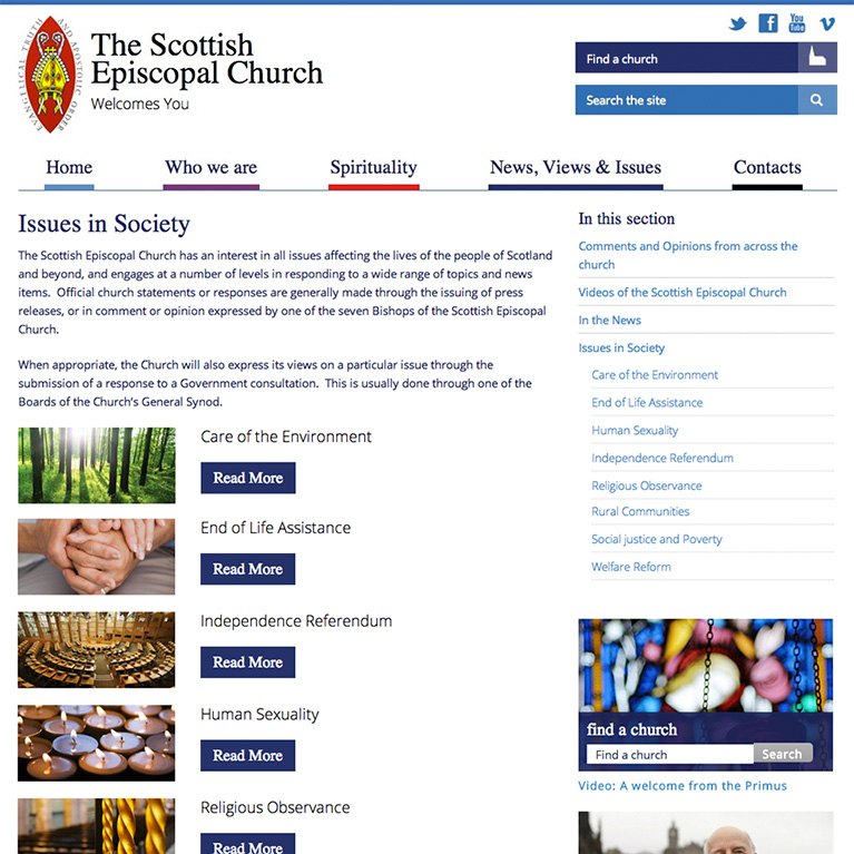 Scottish Episcopal Church - Section Page