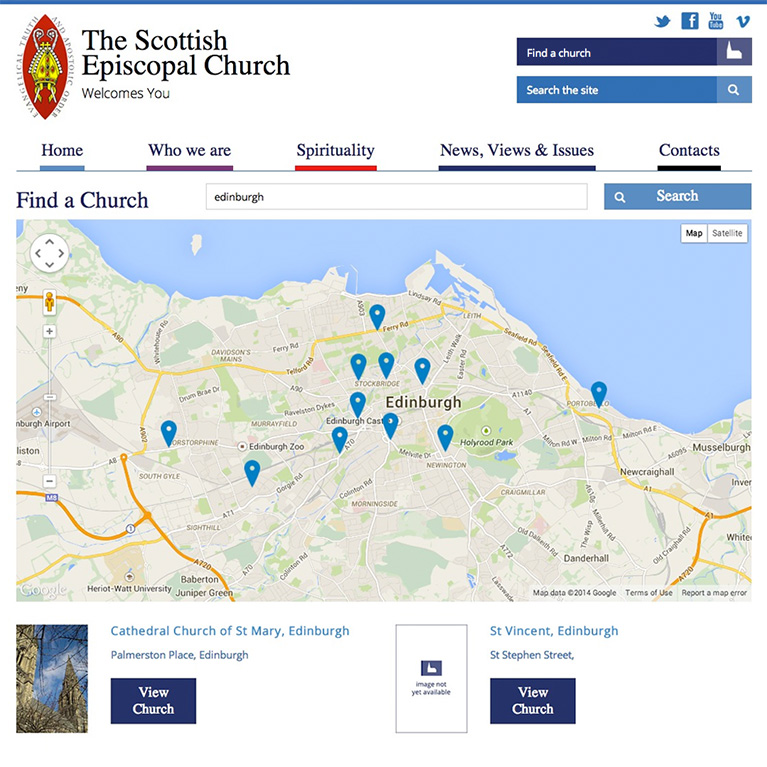 Scottish Episcopal Church - Church Finder